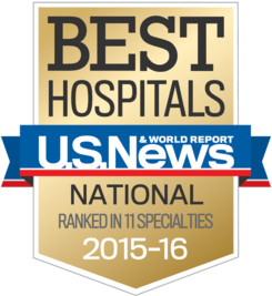 U.S. News & World Report Best Hospitals Award 2015-2016
